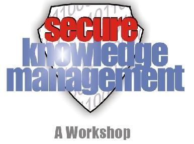 secure knowledge management confidentiality trust How can a information security audit or assessment help your application protecting the confidentiality we'll empower your staff with knowledge.