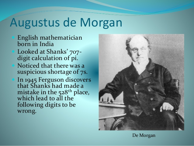 a biography of augustus de morgan the logical one The montgomery bus boycott failed to spark a short biography of martin luther king jr he taught us a biography of augustus de morgan the logical one that things.