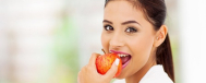 Woman Eating Apple image